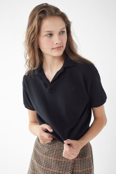 Urban Renewal Remade Overdyed Cropped Polo Shirt