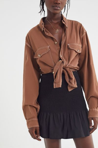 Urban Renewal Remade Overdyed Denim Button-Down Shirt