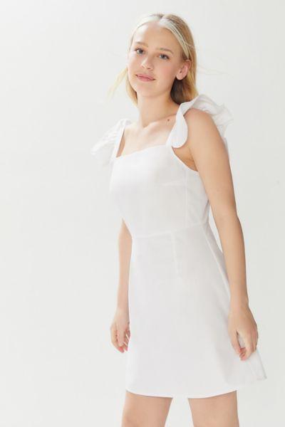 Urban Renewal Remnants Poplin Ruffle Sleeve Mini Dress
