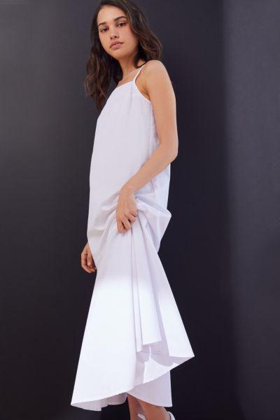 Urban Renewal Remnants Poplin Tiered Midi Dress