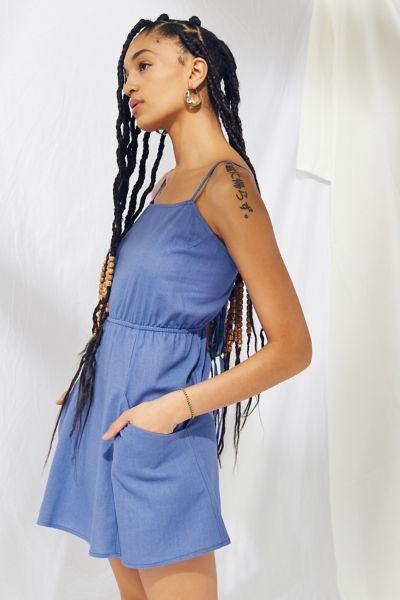 Urban Renewal Remnants Strappy Linen Mini Dress
