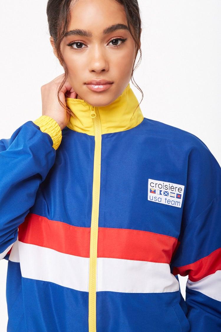 F21 USA Team Colorblock Jacket