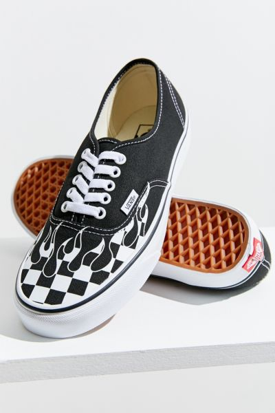 Vans Authentic Checkerboard Flame Sneaker
