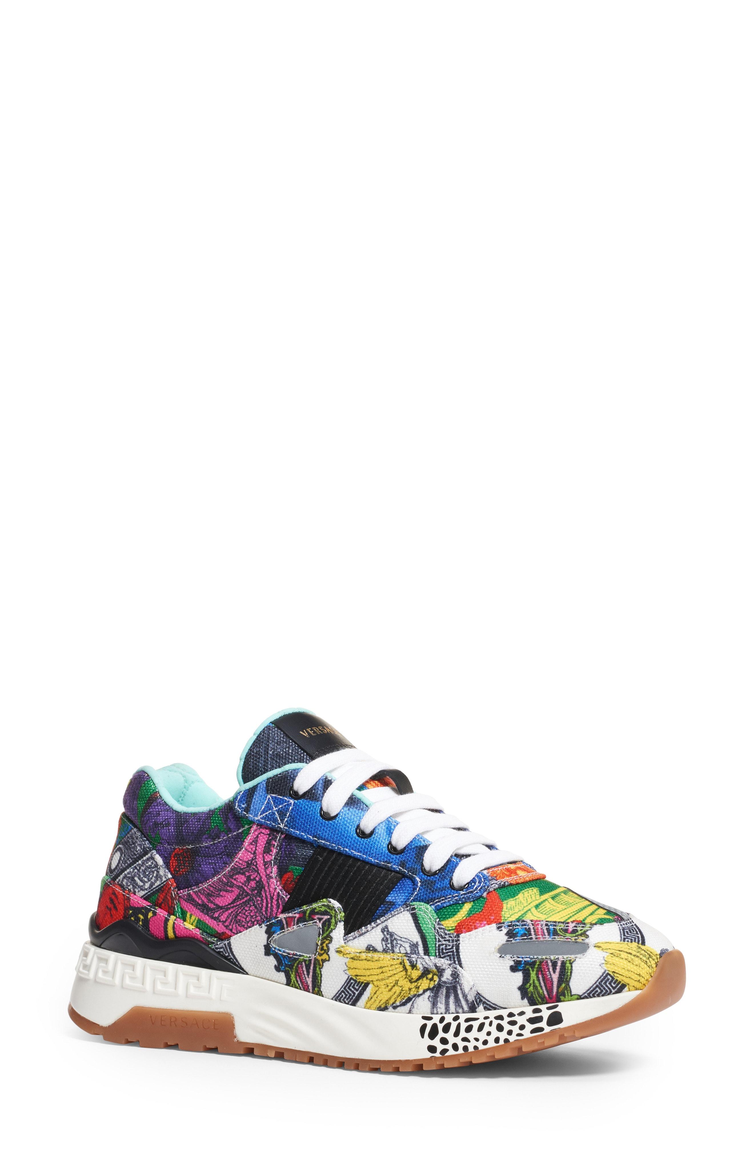Versace First Line Multi Print Running Sneaker (Women)