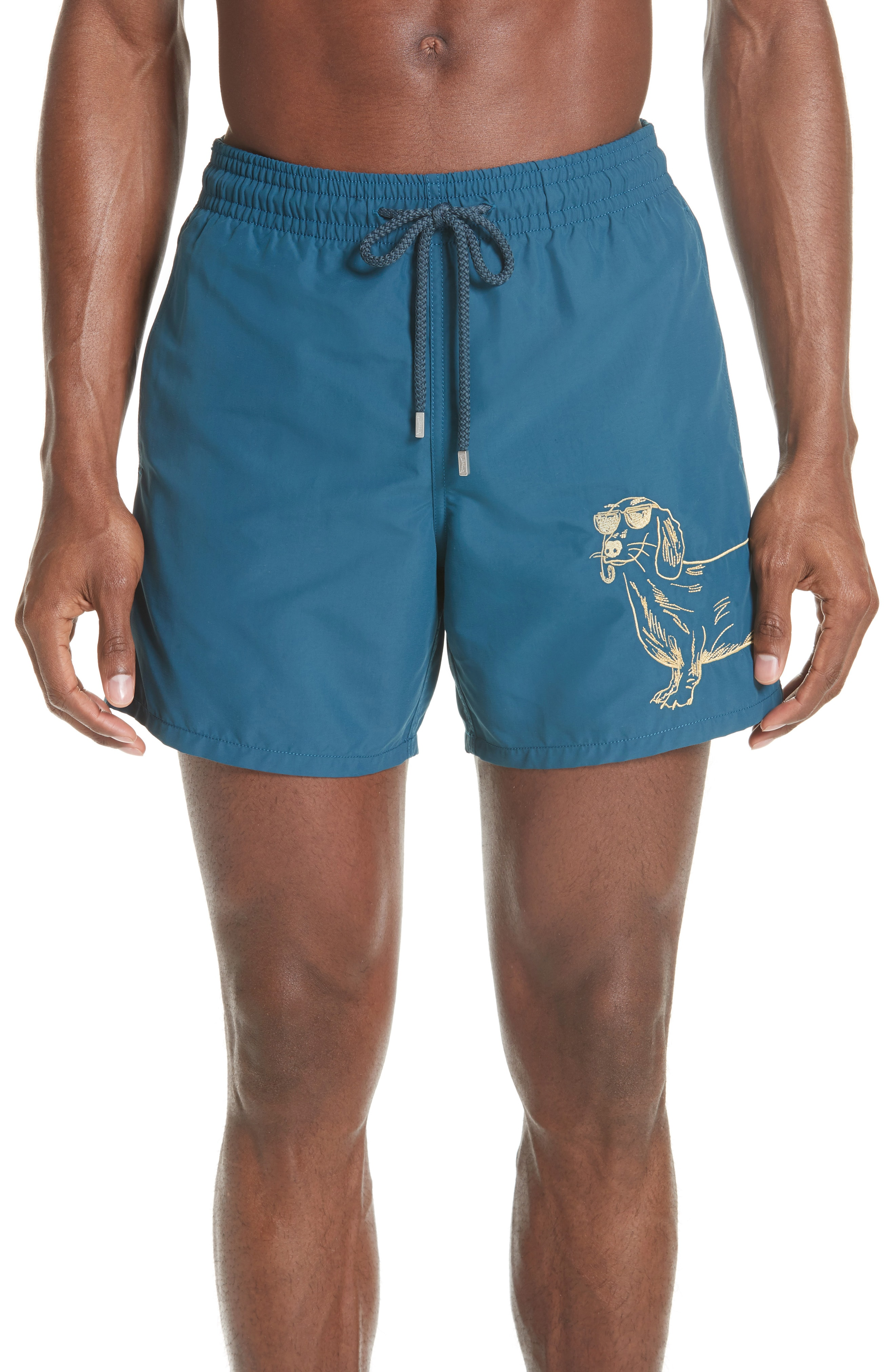 Vilebrequin Embroidered Sunny Dog Swim Trunks