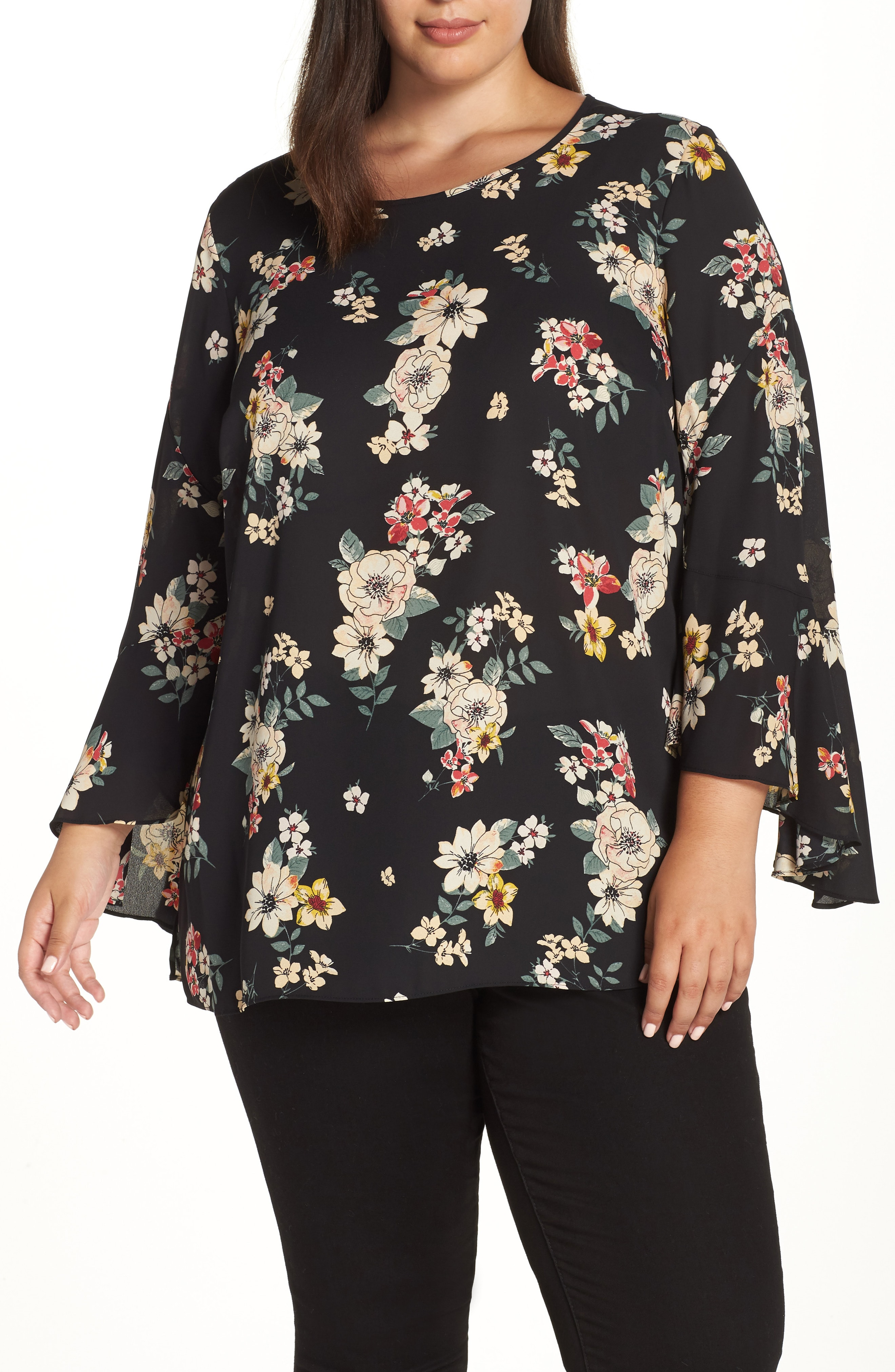 Vince Camuto Bell Sleeve Top (Plus Size)