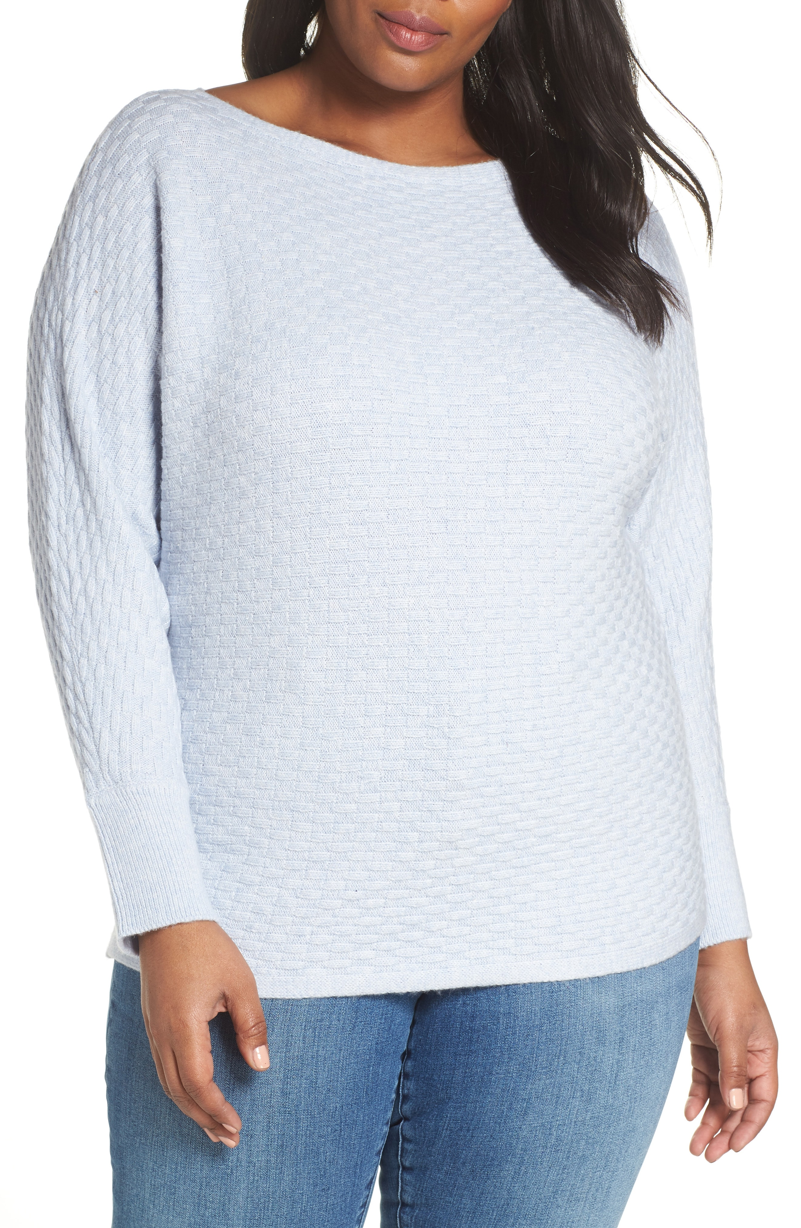 Vince Camuto Boatneck Sweater (Plus Size)