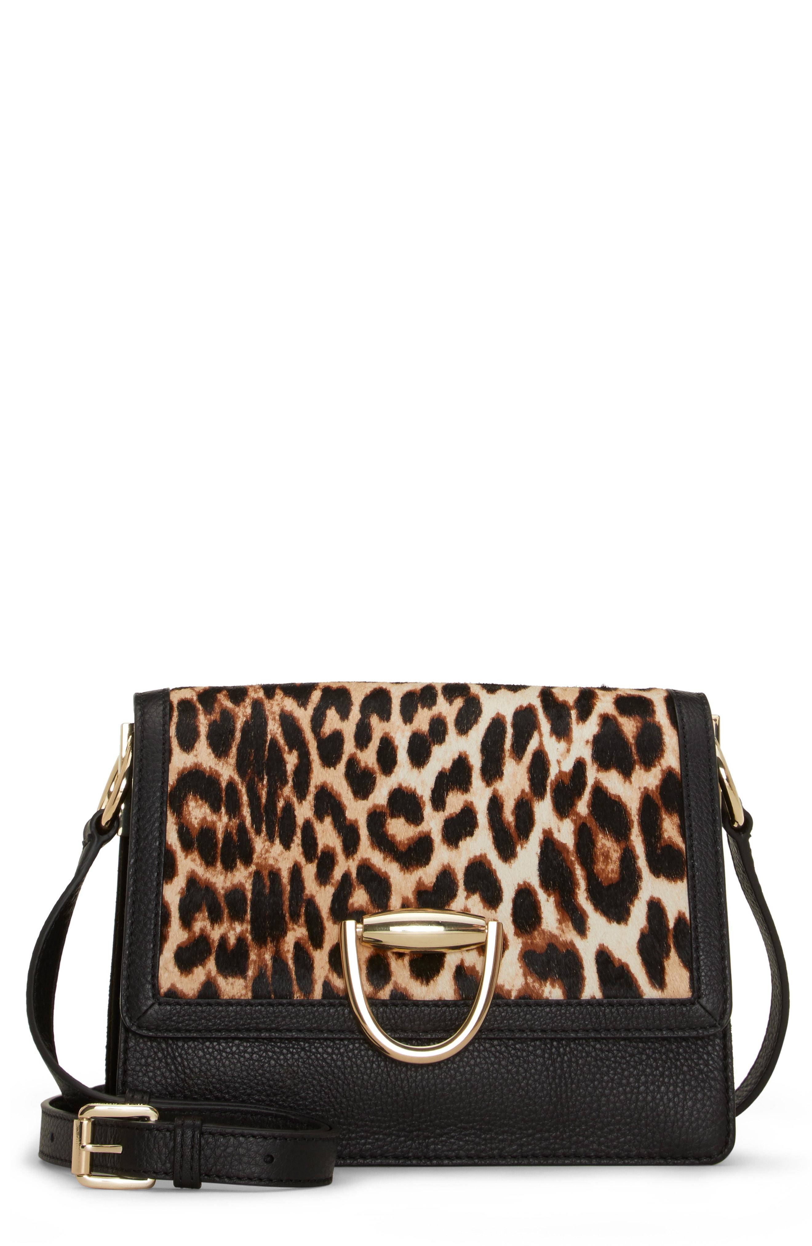 Vince Camuto Kirisi Leather & Genuine Calf Hair Crossbody Bag