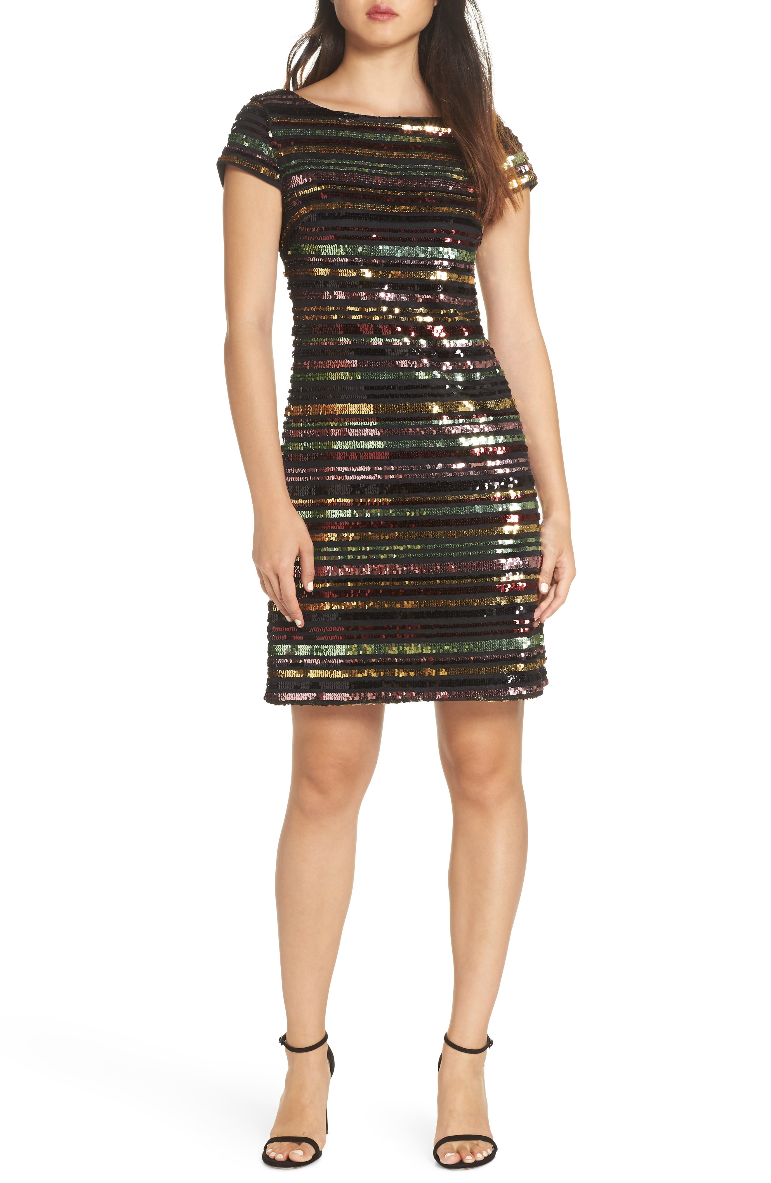Vince Camuto Sequin Stripe Dress