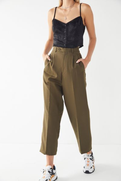 Vintage High-Rise Cropped Trouser Pant