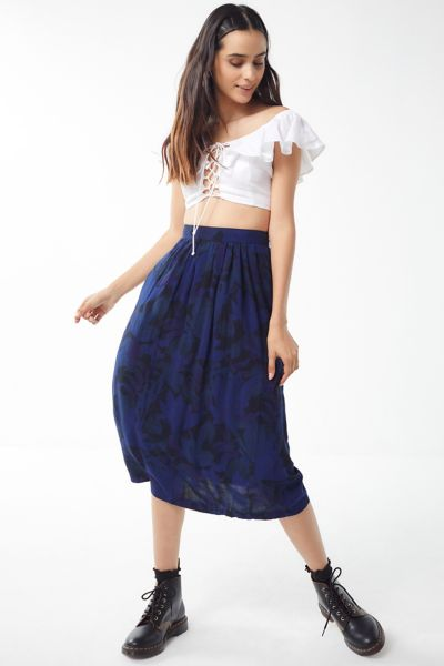 Vintage Overdyed Floral Skirt