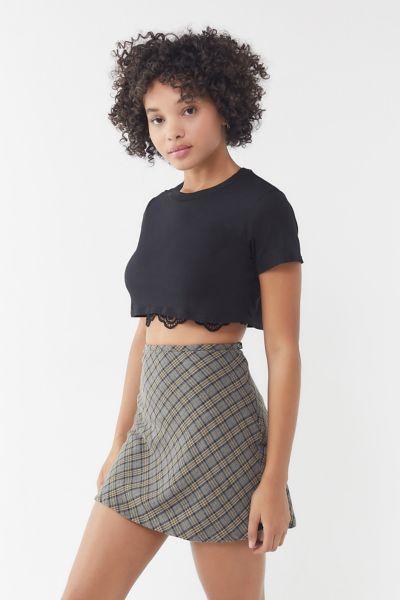 Vintage Plaid A-Line Mini Skirt