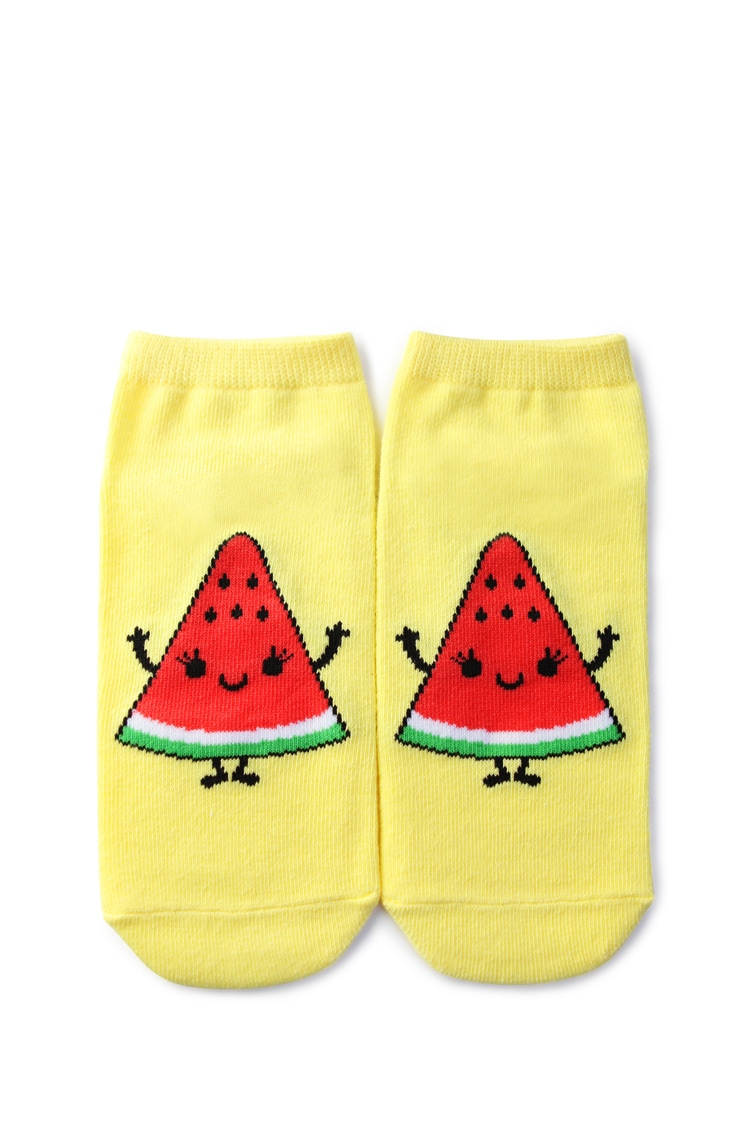 F21 Watermelon Graphic Ankle Socks