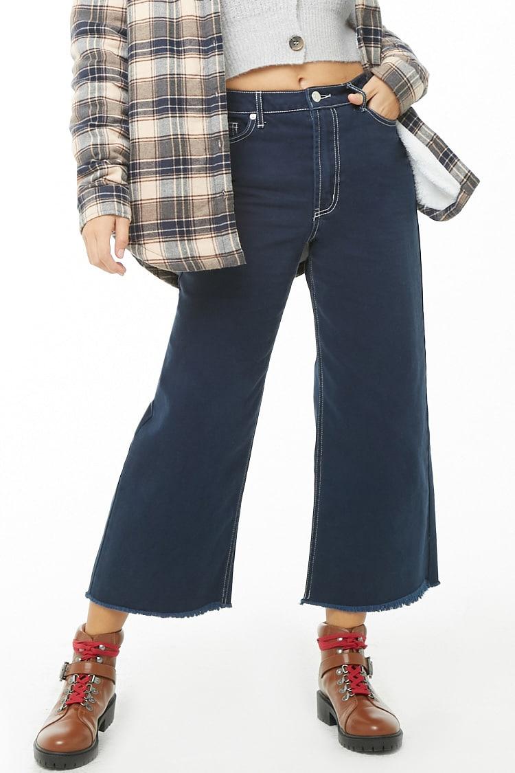 F21 Wide-Leg Denim Pants