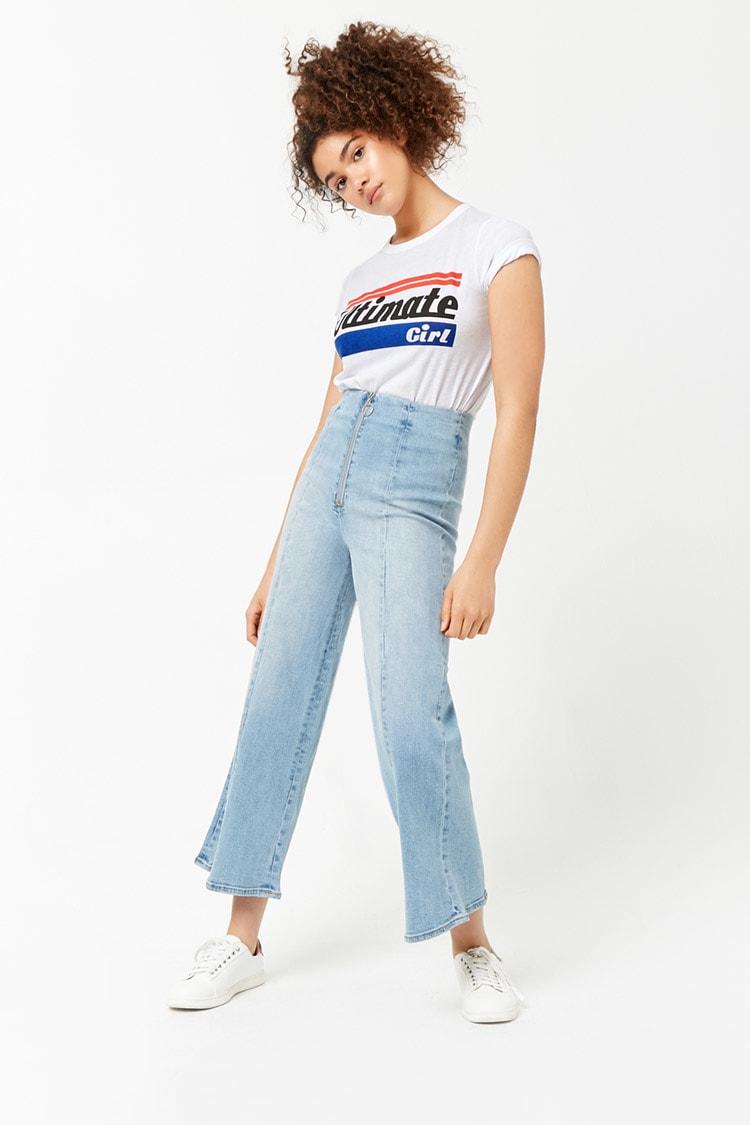 F21 Wide-Leg Jeans