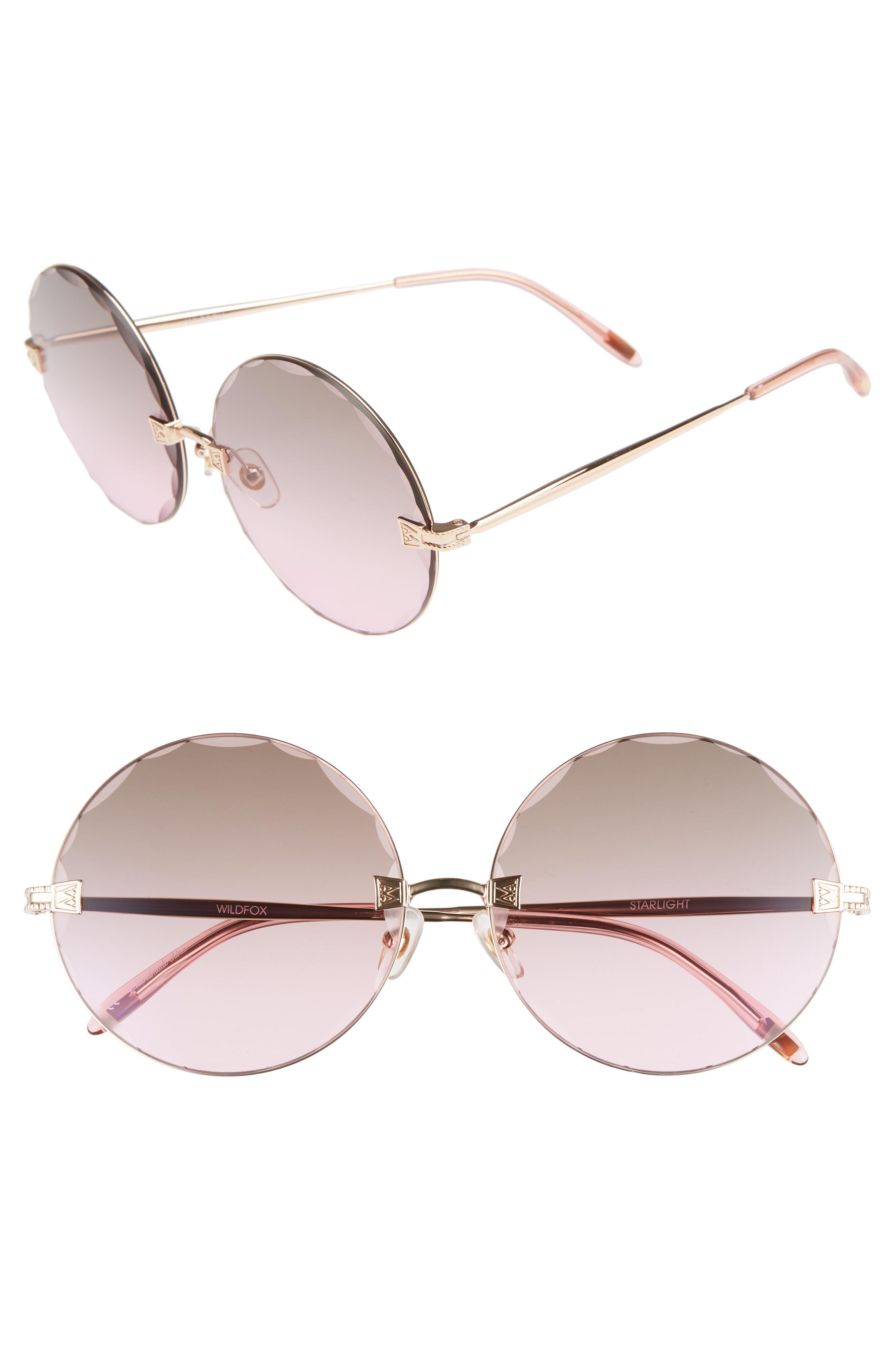 Wildfox Starlight 62mm Oversize Round Sunglasses