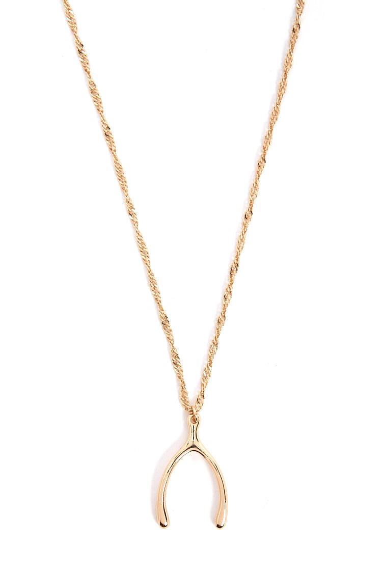 F21 Wishbone Rope Chain Necklace