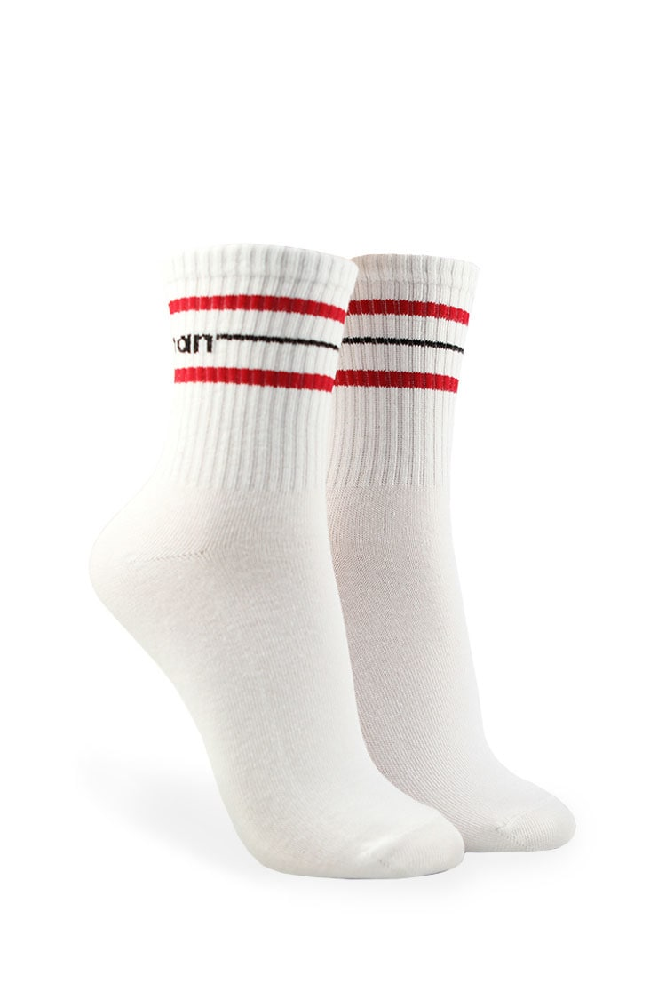 F21 Woman Graphic Crew Socks