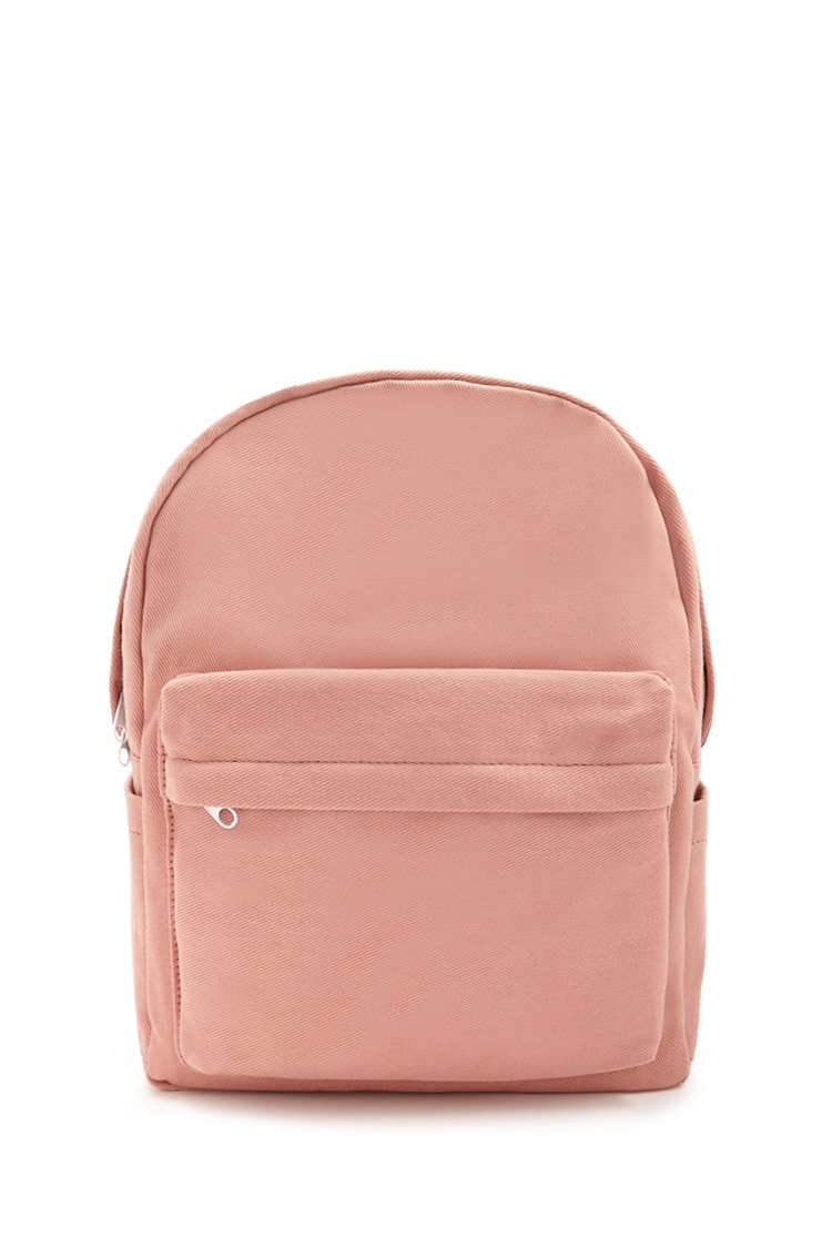 F21 Woven Contrast Backpack