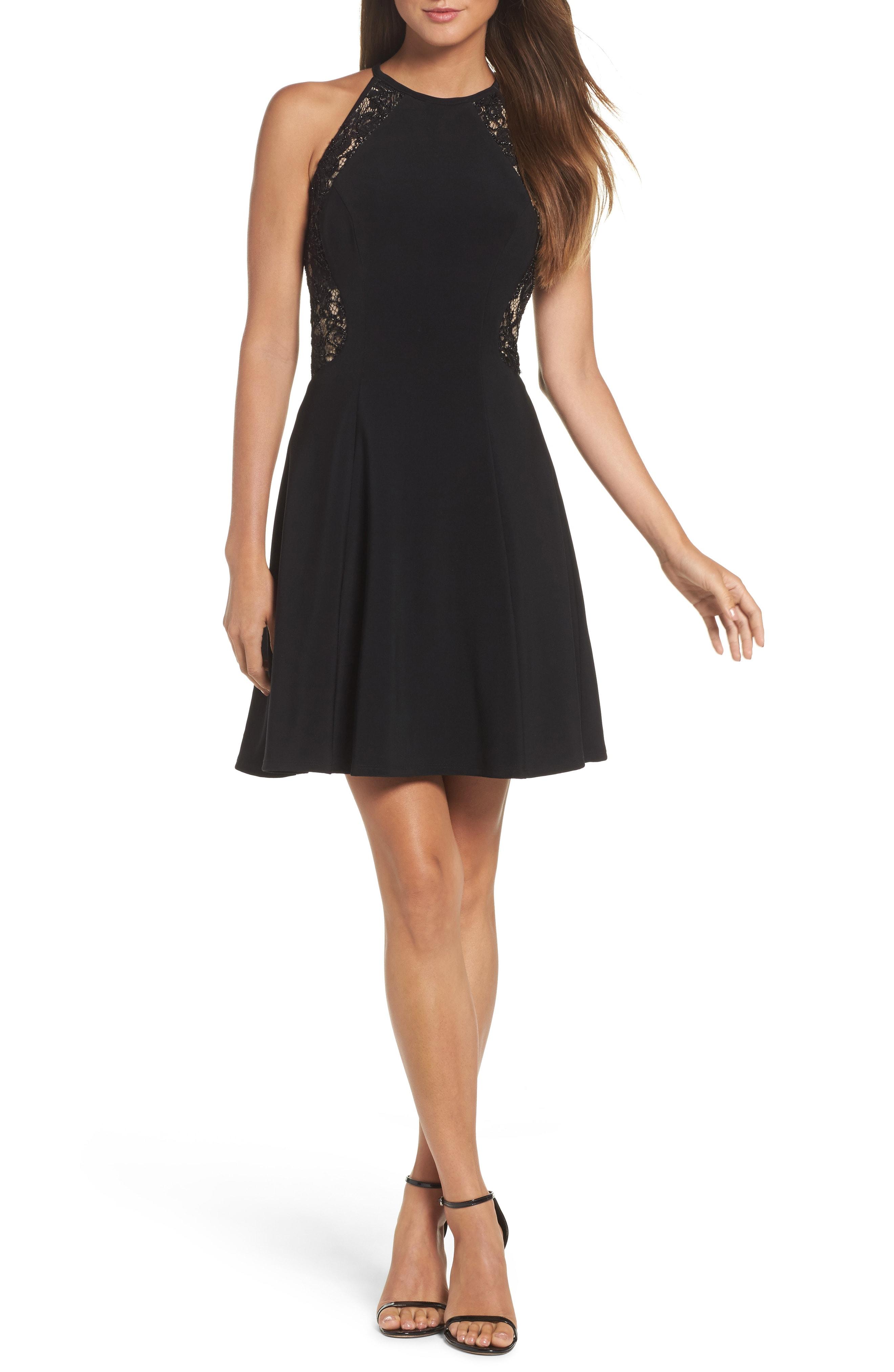 Xscape Lace & Jersey Party Dress